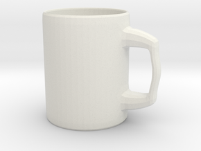 Designers Mug for Coffee or else in White Strong & Flexible