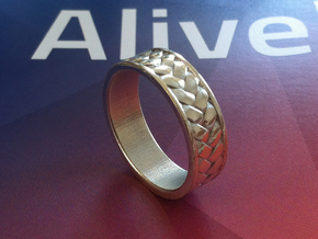 Woven Ring in White Strong & Flexible Polished