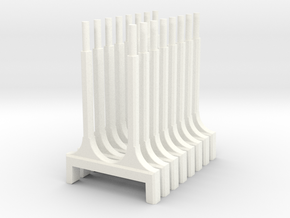 WUS Elevator Pylons in White Strong & Flexible Polished