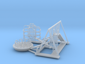 Playground Set - N 160:1 Scale in Frosted Ultra Detail