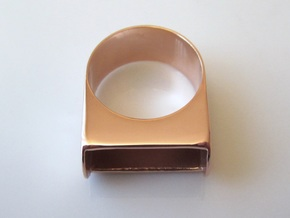 Box for Compact Pillbox Ring - size 10 in 14k Rose Gold Plated