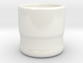 coffee cup ceramic in Gloss White Porcelain