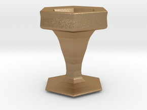 3D Printable Grail in Matte Gold Steel