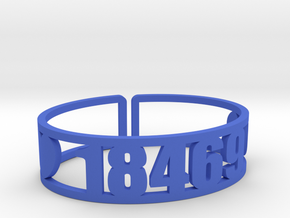 Tyler Hill Zip Cuff in Blue Strong & Flexible Polished