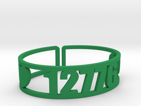 Timberlake Zip Cuff in Green Strong & Flexible Polished