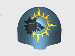 Sun Wolves = Terminator Right Shoulder x10 in Frosted Ultra Detail