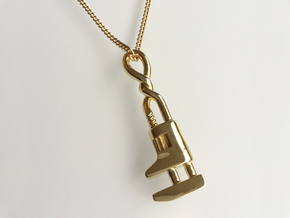 Twist Handle Wrench Pendant in Polished Brass