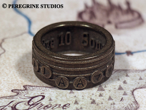 Ring - Song of Double Time (Size 13) in Stainless Steel