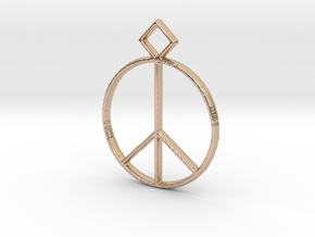 Peace Pendant in 14k Rose Gold Plated
