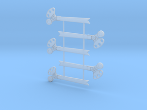 S Scale 3Pos. TO Semaphore Fishtail in Frosted Ultra Detail