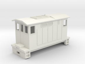 "HOn30 Boxcab Locomotive (""Meg"" V2) in White Strong & Flexible"