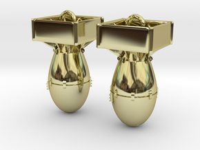 Bomb Ear Rings in 18k Gold Plated