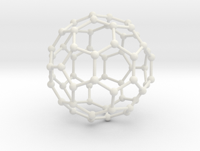 Buckyball in White Strong & Flexible