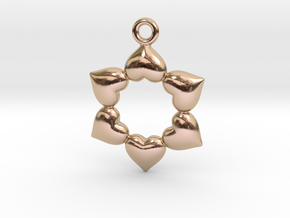 Round Dance Of Hearts in 14k Rose Gold Plated