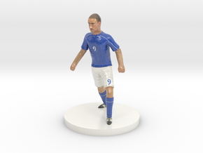 Italian Football Player in Coated Full Color Sandstone