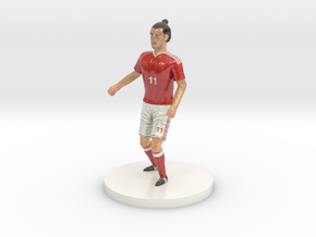 Welsh Football Player in Coated Full Color Sandstone