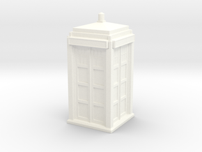 The Physician's Blue Box in 1/48 scale (complete) in White Strong & Flexible Polished
