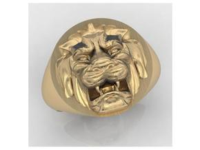 Lion signet ring size 8 3/4 in White Strong & Flexible
