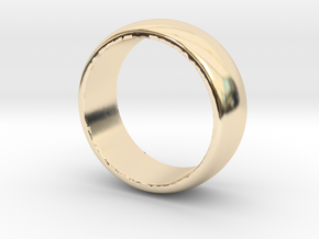 Basic 8 Wedding Band Size 9.5 in 14k Gold Plated