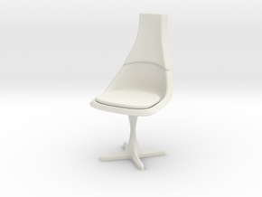 TOS Chair 115 1:24 Scale in White Strong & Flexible