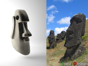 Mini Moai Head in Stainless Steel