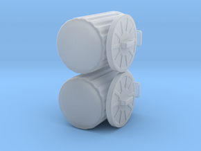 generic trash cans for tabletop games in Frosted Ultra Detail