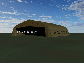 1/144 Bessonneau Hangar, 6-Bay in White Strong & Flexible