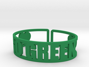 Go Green Cuff in Green Strong & Flexible Polished