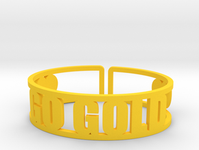 Go Gold Cuff in Yellow Strong & Flexible Polished