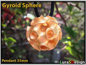 GYROID Sphere Pendant in Stainless Steel