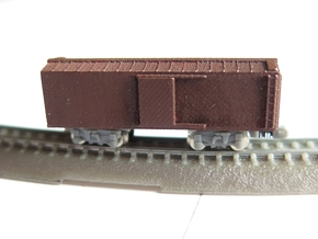 1/450 40ft wood boxcar body shell, for T gauge in Frosted Ultra Detail