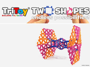 TriToy Building Polygons for Adults (12 TRIANGLES) in Blue Strong & Flexible Polished
