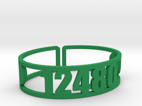 Timber Lake Zip Cuff in Green Strong & Flexible Polished
