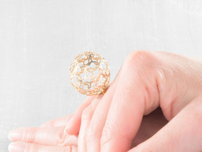 Ring Flower Ball 28 (various sizes) in Polished Bronze