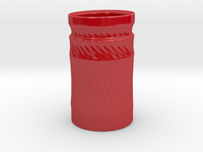 Simple cup 2 in Gloss Red Porcelain