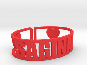 Saginaw Cuff in Red Strong & Flexible Polished