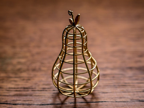 Pear Pendant in Polished Brass