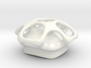 Molecule Sugar Bowl Lid  in Gloss White Porcelain