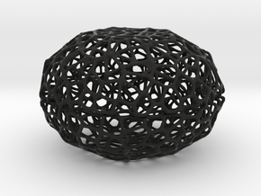 Little Voronoi Pearl Light Lamp No. 2 (8 cm) in Black Strong & Flexible