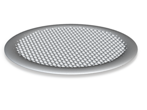 DRAW coaster - repetitive bumps in White Strong & Flexible