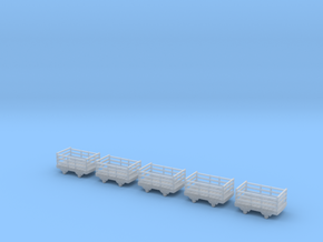 009 Festiniog wooden slate wagon x5 in Frosted Ultra Detail