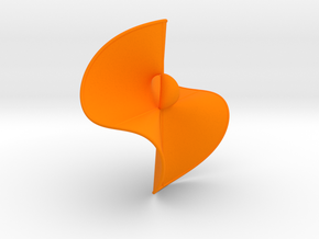 Cubic Surface KM 44 in Orange Strong & Flexible Polished