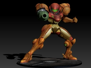 Samus Aran - Power Suit 140mm in Full Color Sandstone