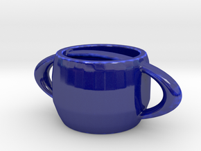 The Saturn Mug in Gloss Cobalt Blue Porcelain