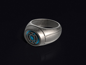 Blue Lantern Ring in Stainless Steel
