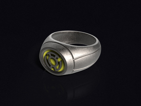 Yellow Lantern Ring in Stainless Steel