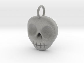 Skull Necklace/Earring pendant in Metallic Plastic