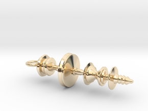 """May the Force Be With You"" Star Wars Waveform in 14k Gold Plated"