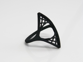 Parabolic Suspension Ring - US Size 09 in Black Strong & Flexible