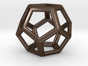 Dodecahedron LG in Polished Bronze Steel